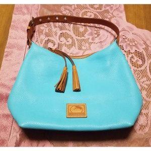 Dooney & Bourke Leather Hobo Bag & Dust Bag